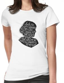Virginia Woolf Quote and Silloette  Womens Fitted T-Shirt