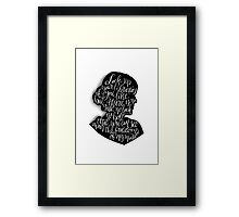 Virginia Woolf Quote and Silloette  Framed Print