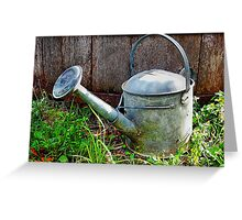 The Old Watering Can Greeting Card