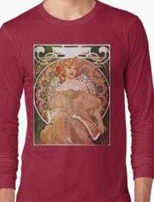 Alphonse Mucha - Reverie Daydream Long Sleeve T-Shirt