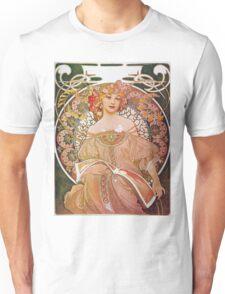 Alphonse Mucha - Reverie Daydream Unisex T-Shirt