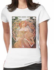 Alphonse Mucha - Reverie Daydream Womens Fitted T-Shirt