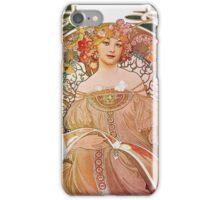 Alphonse Mucha - Reverie Daydream iPhone Case/Skin