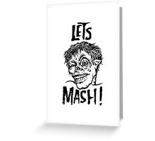 Let's Mash, Zombie! Greeting Card