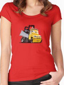 Cartoon Tow Truck Women's Fitted Scoop T-Shirt