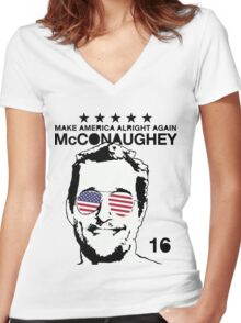 McConaughey - Make America Alright Again - 2016 Women's Fitted V-Neck T-Shirt