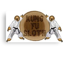 Kung Fu Sloth! Canvas Print