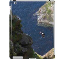 Puffin in flight Shetland Islands Scotland UK iPad Case/Skin
