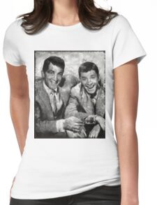 Dean Martin and Jerry Lewis Vintage Hollywood Legends Womens Fitted T-Shirt