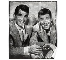 Dean Martin and Jerry Lewis Vintage Hollywood Legends Poster