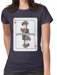 Vampire King Playing Card Womens Fitted T-Shirt