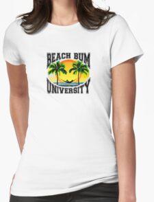 Beach Bum University Womens Fitted T-Shirt