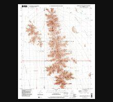USGS TOPO Map Arizona AZ Granite Mountains North 311541 1996 24000 Unisex T-Shirt