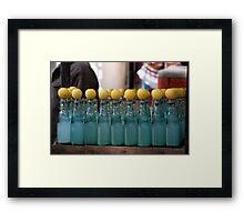 Street Drinks Framed Print