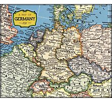 1951 old Germany map - special gift ideas Photographic Print