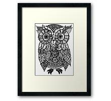 Zentangle Owl Framed Print