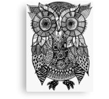 Zentangle Owl Canvas Print