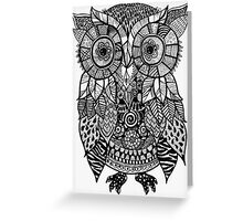 Zentangle Owl Greeting Card