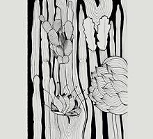 Cactus Art Black & White Unisex T-Shirt