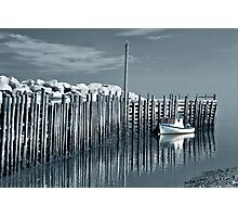 Margaretsville Wharf - selective color Photographic Print