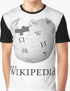 Wikipedia Logo Ultra High Quality Graphic T-Shirt