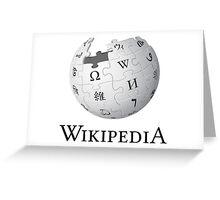 Wikipedia Logo Ultra High Quality Greeting Card