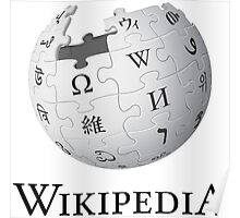 Wikipedia Logo Ultra High Quality Poster