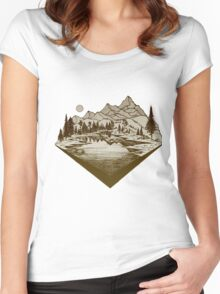 camping Women's Fitted Scoop T-Shirt