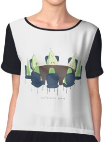 Conference Pears Chiffon Top