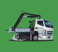 Cartoon Lkw Truck with Crane One Piece - Short Sleeve