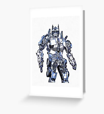 Transformers Optimus Prime Or Orion Pax Graphic Greeting Card