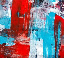 Modern Turquoise Abstract by Christina Rollo