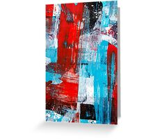Modern Turquoise Abstract Greeting Card
