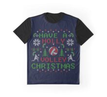 Holly Volley Volleyball Ugly Christmas by TeeCreations Graphic T-Shirt