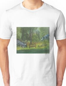By a creekside in Georgia Unisex T-Shirt