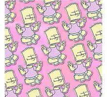 Bart Simpson - Pink Photographic Print