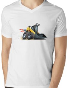 Cartoon Skid Steer Mens V-Neck T-Shirt