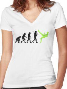 Zlatan Ibrahimovic Evolution Women's Fitted V-Neck T-Shirt