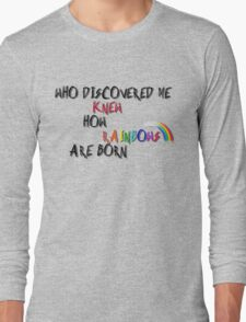 Pink princess talk Long Sleeve T-Shirt