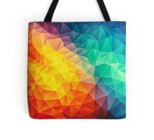 Abstract Multi Color Cubizm Painting Tote Bag