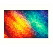 Abstract Multi Color Cubizm Painting Art Print