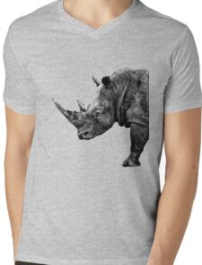 SAFARI PROFILE - RHINO BLACK EDITION Mens V-Neck T-Shirt
