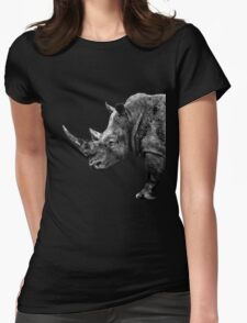 SAFARI PROFILE - RHINO BLACK EDITION Womens Fitted T-Shirt