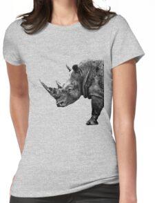 SAFARI PROFILE - RHINO BLACK EDITION Womens Fitted T-Shirt