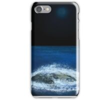 Blue Moon over the Ocean iPhone Case/Skin