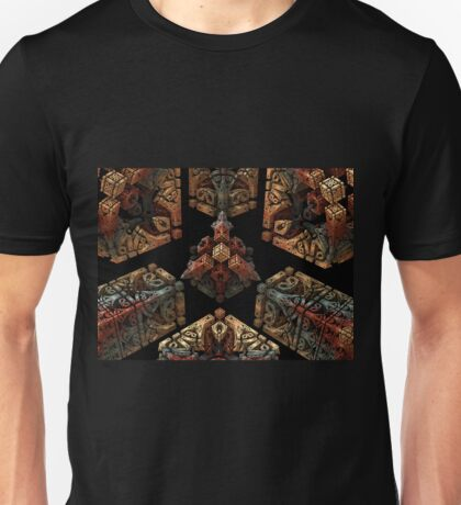 Stone Carved Fractal. Unisex T-Shirt