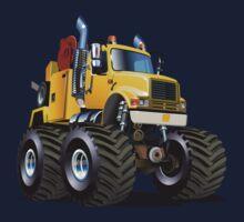 Cartoon Monster Tow Truck Kids Tee