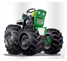 Cartoon Tractor Poster
