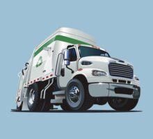 Cartoon Garbage Truck Kids Tee