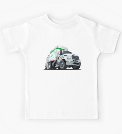 Cartoon Garbage Truck Kids Tee